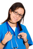 Friendly female nurse — Stock Photo