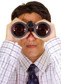 Searching for business - businessman — Stock Photo