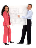 Couple planning their house — Stock Photo