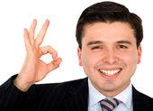 Homme d'affaires faisant le signe ok — Photo