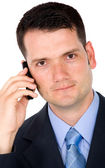 Business man on a mobile phone — Stock Photo