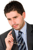 Pensive business man — Stock Photo
