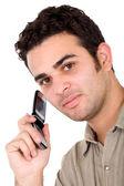 Uomo d'affari su un cellulare — Foto Stock