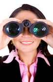 Business search - woman — Stock Photo