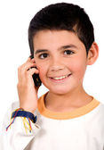 Kid on the phone — Stock Photo