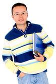 Estudiante casual con un portátil — Foto de Stock