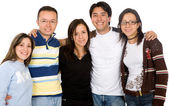 Group of casual young — Stock Photo