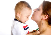 Baby and his mum - mothercare — Stock Photo