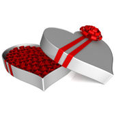 3D Box of roses — Stock Photo
