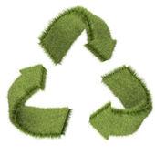 3d symbol recyklace — Stock fotografie