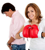 Couple's fight — Stock Photo