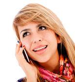 Meisje op de telefoon — Stockfoto