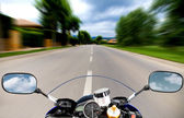 Motorcycle at high speed — Stockfoto