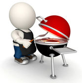 3d grill — Zdjęcie stockowe