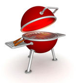 3D charcoal grill — Stock Photo