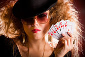 Stylish poker player — Stock Photo