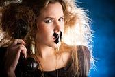 Femme réduits au silence — Photo