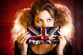 Eccentric British woman — Stock Photo