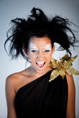 Greek goddess screaming — Stock Photo