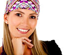 Woman with headscarf — Stock Photo