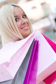 Shopping woman — Stock Photo