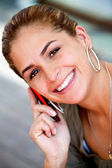 Woman on the phone — Foto Stock