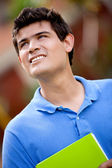 Thoughtful male student — Stock Photo