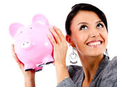 Woman's savings — Stock Photo