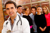 Doctor at the hospital — Stock Photo