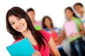Estudiante sonriendo — Foto de Stock