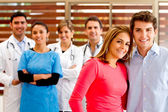 Patients at the hospital — Stock Photo