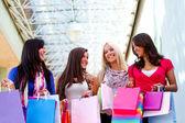 快乐购物妇女 — 图库照片