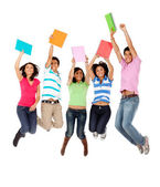 Excited students — Stock Photo