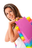 Kobieta, zakupy — Zdjęcie stockowe