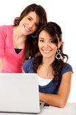 Women with laptop — Stock Photo
