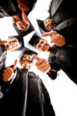 Group of graduates — Foto de Stock