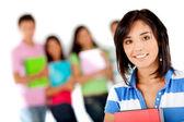 Estudiante con un grupo — Foto de Stock