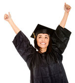 Happy female graduate — Stock Photo