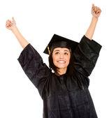 Feliz graduado femenino — Foto de Stock