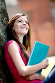 Female student outdoors — Stock Photo