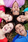 Laughing outdoors — Stock Photo