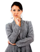 Skeptical business woman — Stock Photo
