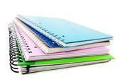 Pile of notebooks — Stock Photo