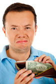 Bankrupt man — Stock Photo