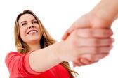 случайные рукопожатие — Стоковое фото