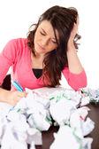 Schrijven van een essay — Stockfoto