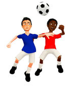 Joueurs de football 3d — Photo