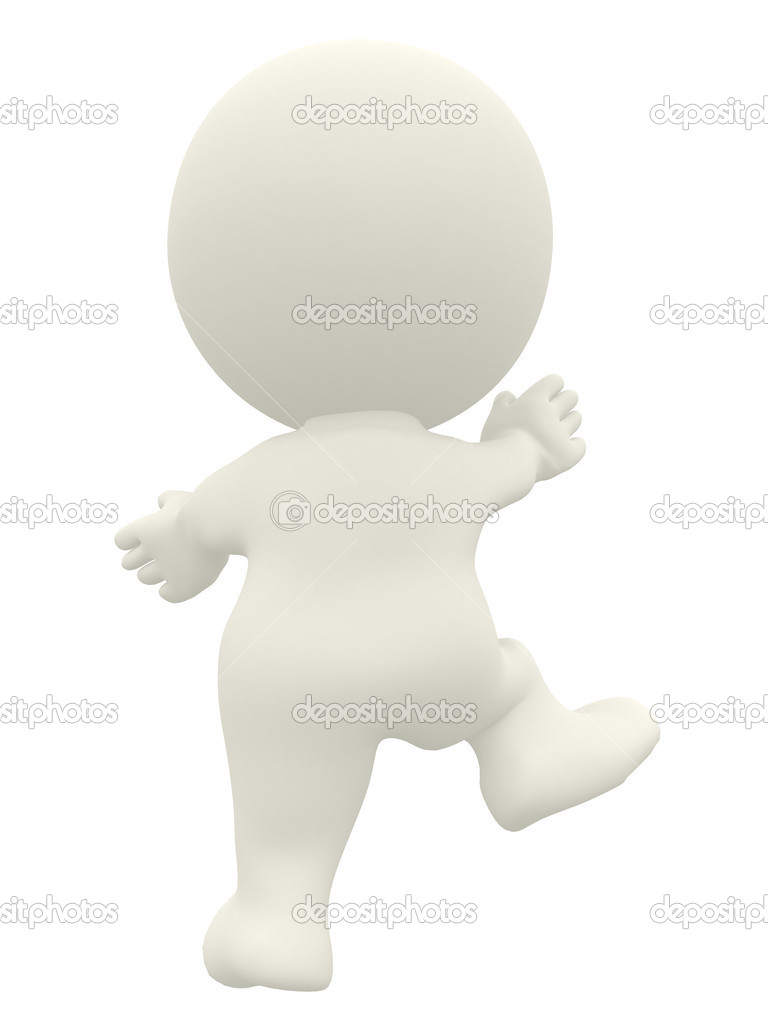 3D person climbing isolated over a white background  Stock Photo #7750562