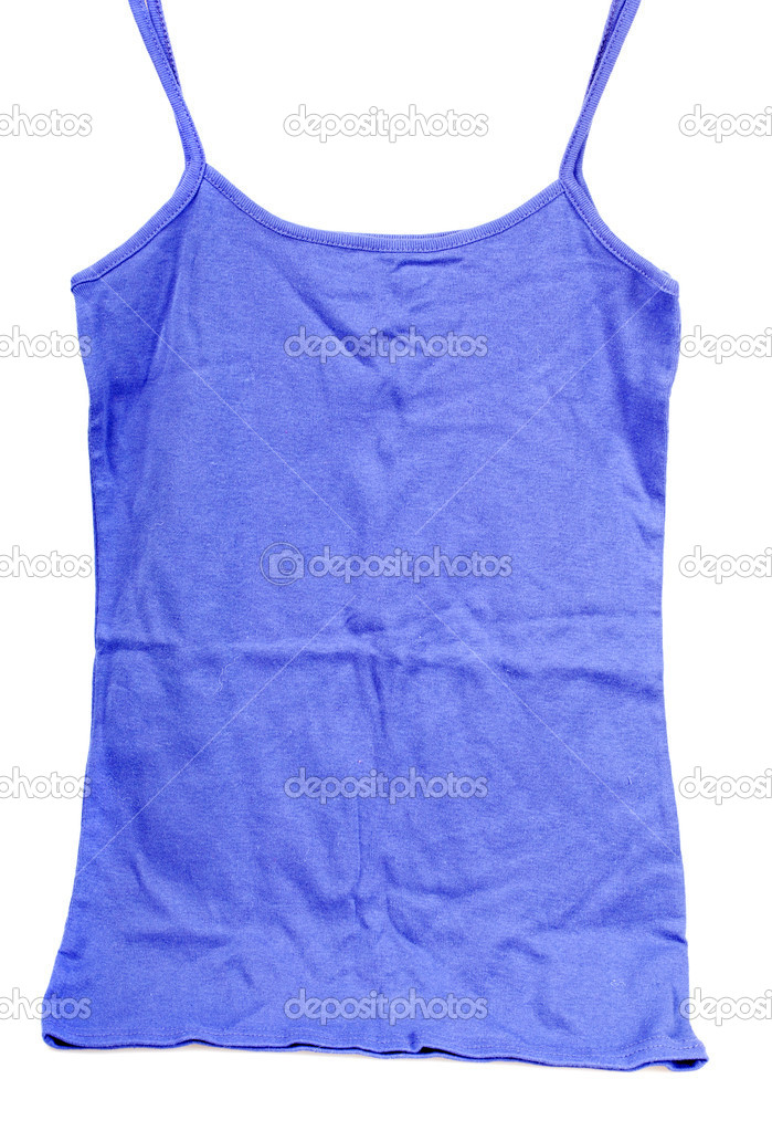 Lilac sleeveless t-shirt isolated over a white background  Stock Photo #7751706