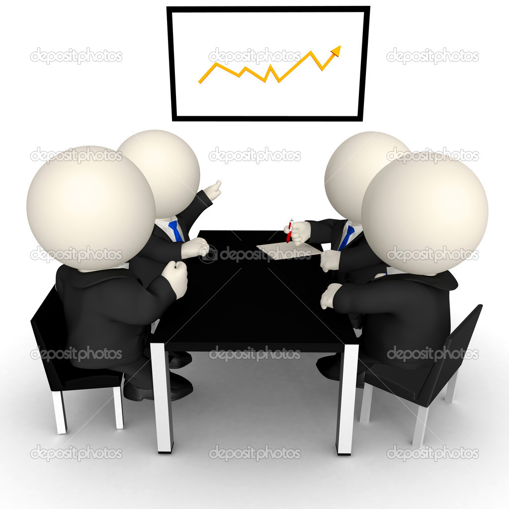 3d business meeting stock photo 169 andresr 7756919